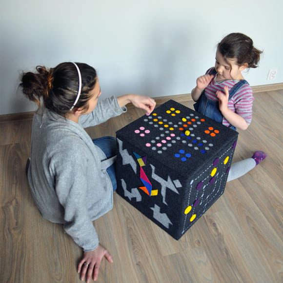 Felt Game Pouf by Dam!Design
