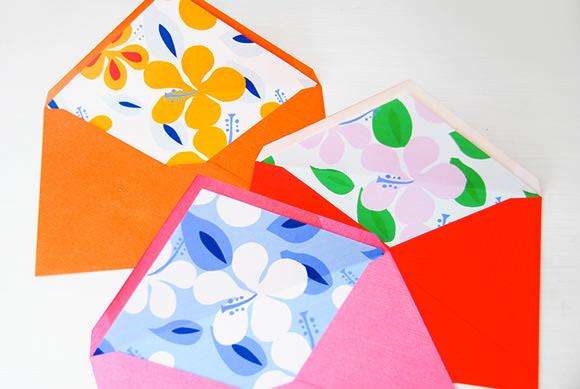 DIY Printable Summertime Envelope Liners