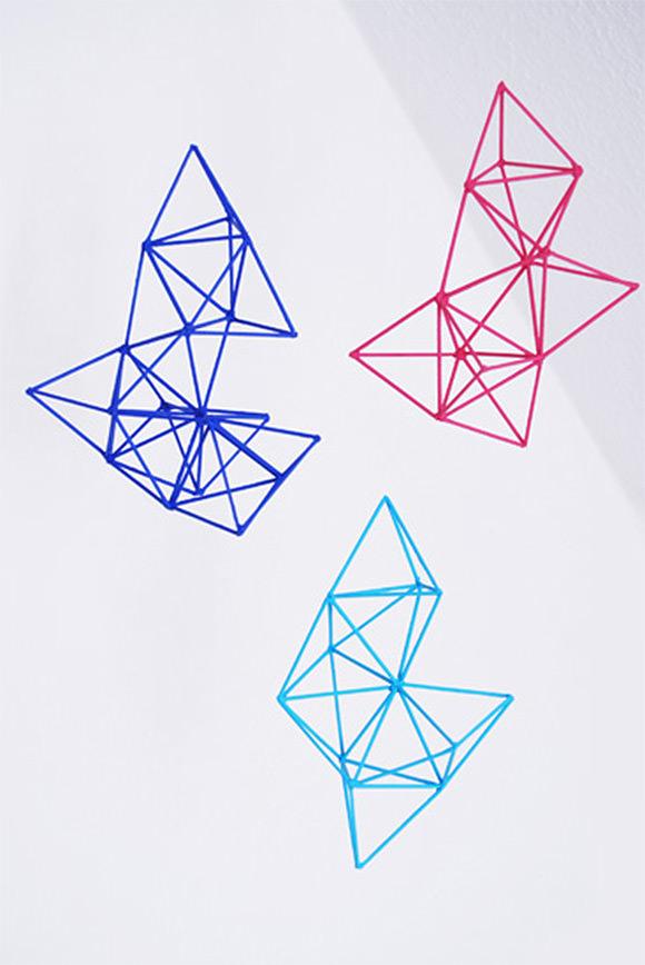 DIY Geometric Mobile via Rotkehlchen