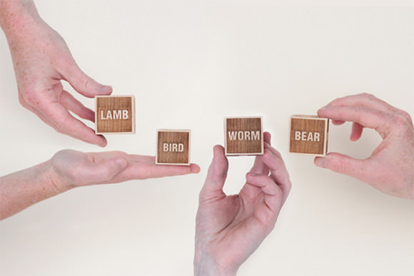 "Wooden ""Advice Dice"" by Drache & Bar"
