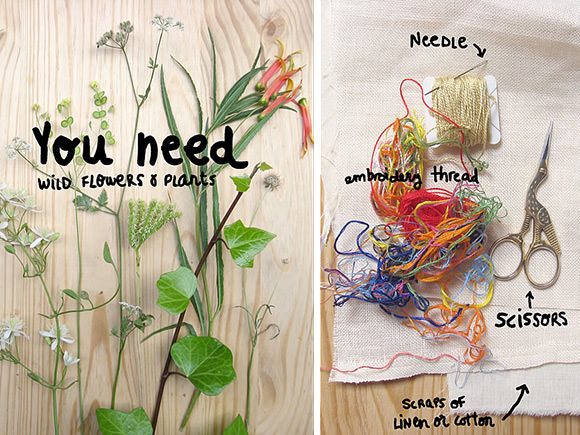DIY Folk Art Nature Embroidery: What You Need