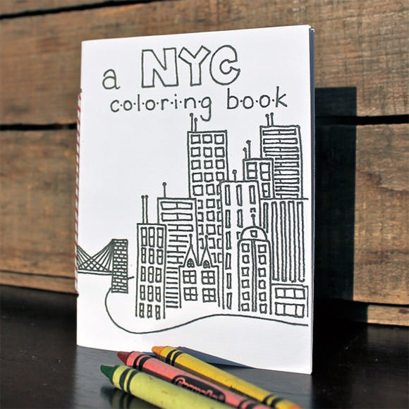 NYC Coloring Book via Etsy