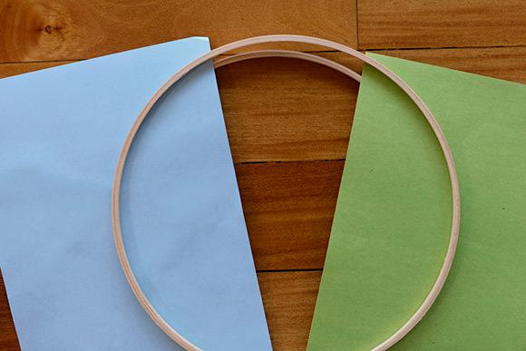 DIY Embroidery Hoop Mobile Tutorial: Step 1