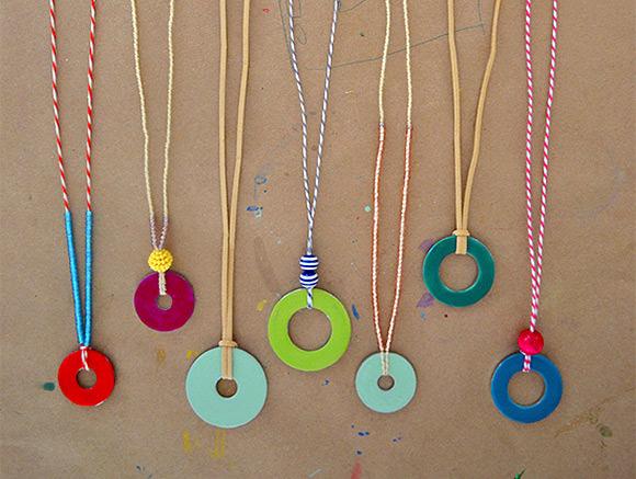 DIY Washer Necklaces (using nail polish)