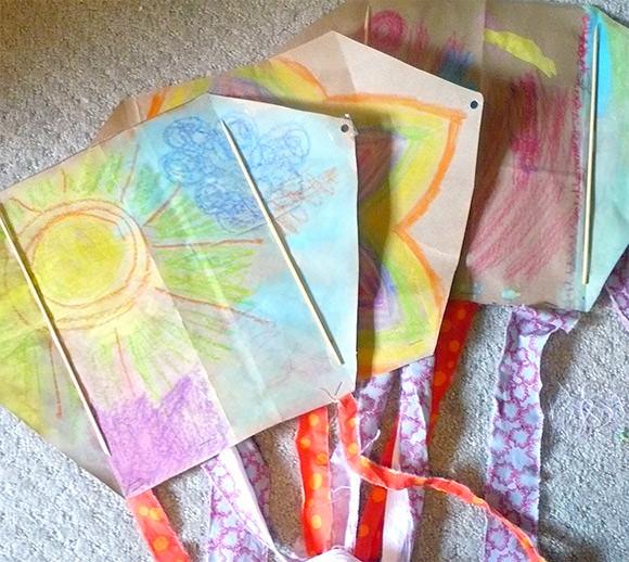 Simple DIY Paper Bag Kite