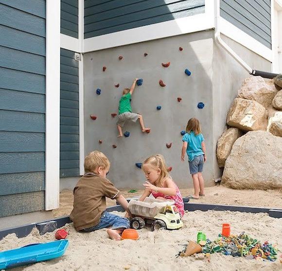 DIY Outdoor Climbing Wall for Kids