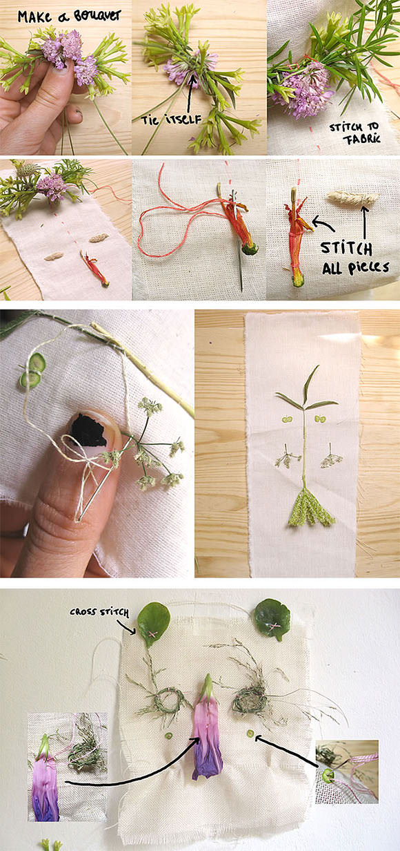 DIY Folk Art Nature Embroidery: Step 5