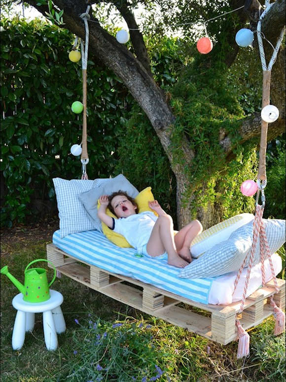 DIY Outdoor Hanging Bed for Kids