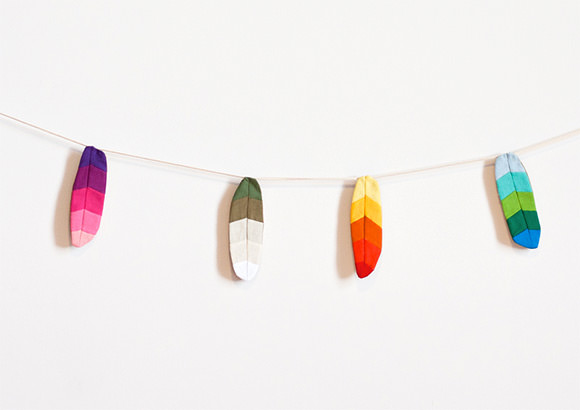 Patchwork Feather Garland from Made by Mosey