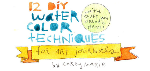 12 DIY Watercolor Techniques