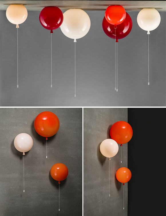 Light up your child's room with balloons! Pull the string to turn the lights on and off — so fun!