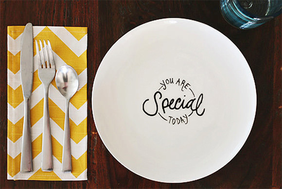 """""""You Are Special Today"""" DIY Plate"""