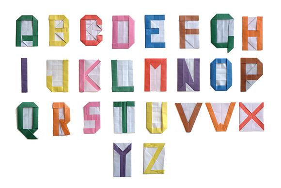 DIY Origami Alphabet