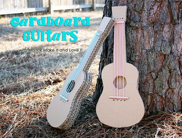 DIY Cardboard Guitars