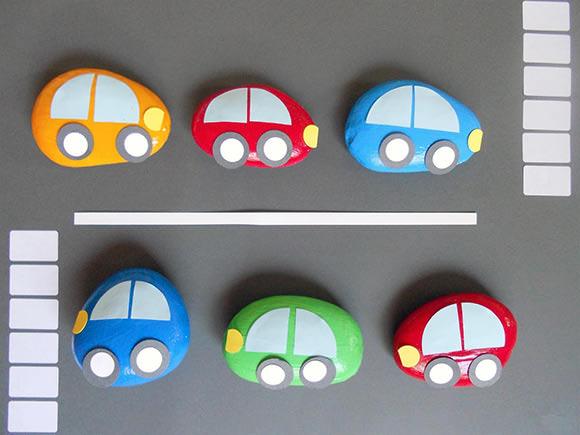 DIY Rock Car Paperweights