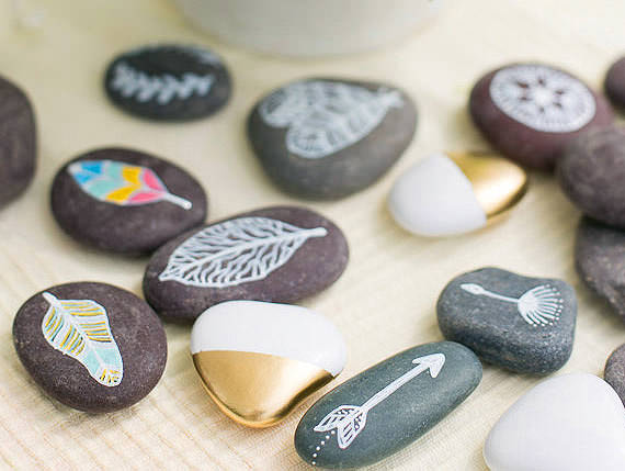 6 New Ways To Paint Rocks | Handmade Charlotte