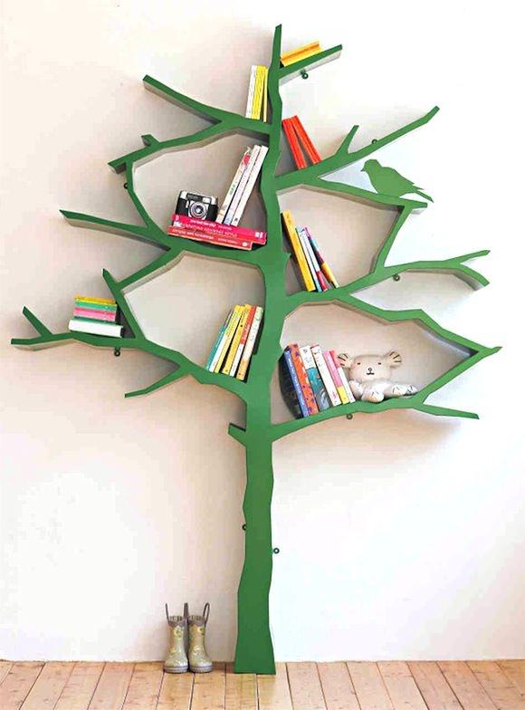 Bookshelf Ideas for Kids' Rooms - Tree Bookshelf