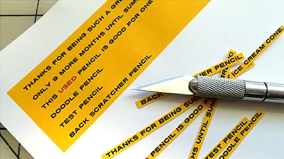 DIY Message Pencils // via family economics