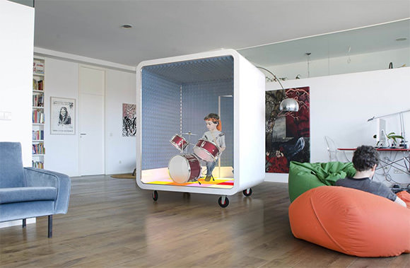 a literal music box for kids - soundproofing keeps parents sane while kids make noise