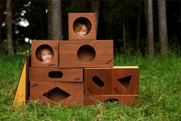 Hebe Children's Wooden Buildings Blocks by Craig McInnes Design