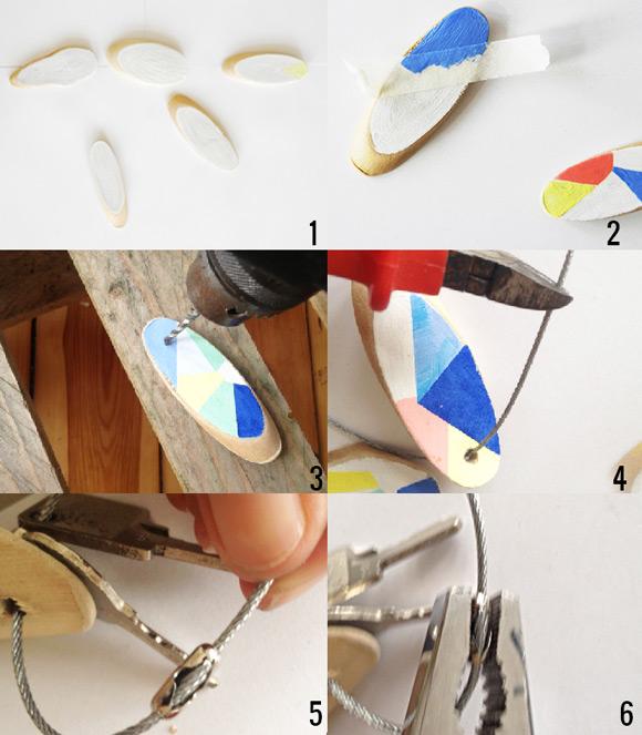 DIY Geometric Key Chain