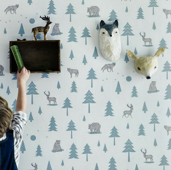 Wallpaper for Kids - Into the Wild by Hibou Home