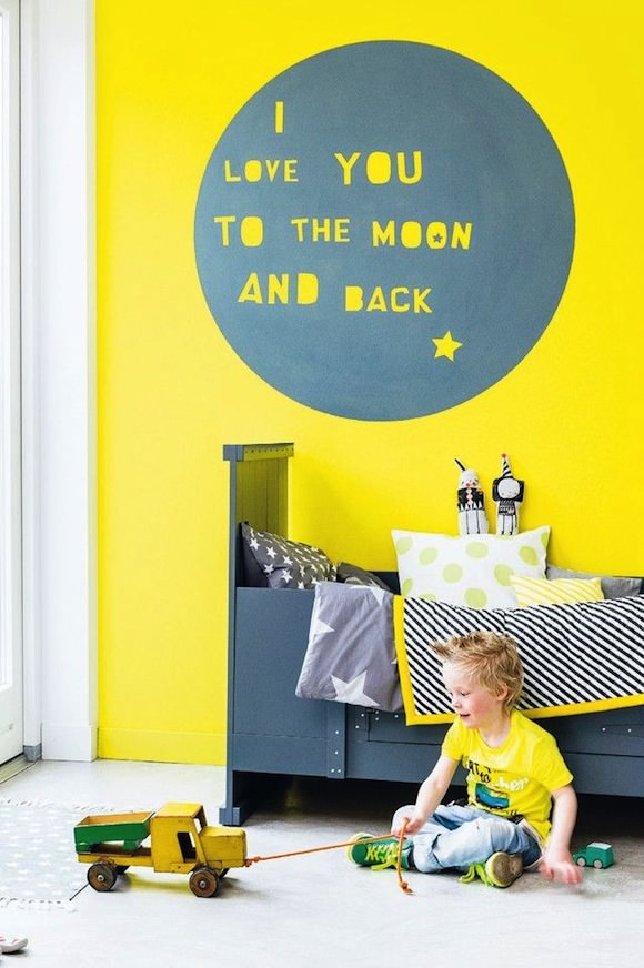 Canary Yellow Wall For Kids Room