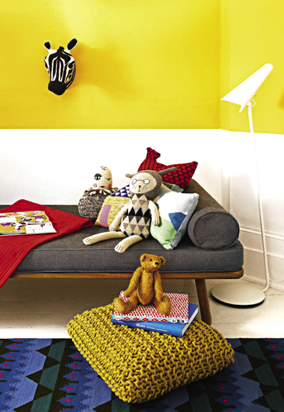 two-tone painted walls // kids room