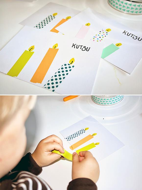 DIY Washi Tape Candle Cards