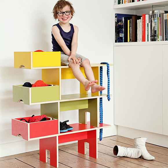 clever kid's room organizers - bobby seat shelf by  moupila