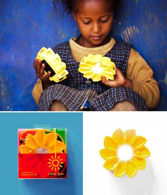 Little Sun Solar-Powered LED Lamp (provides light to off-the-grid communities)