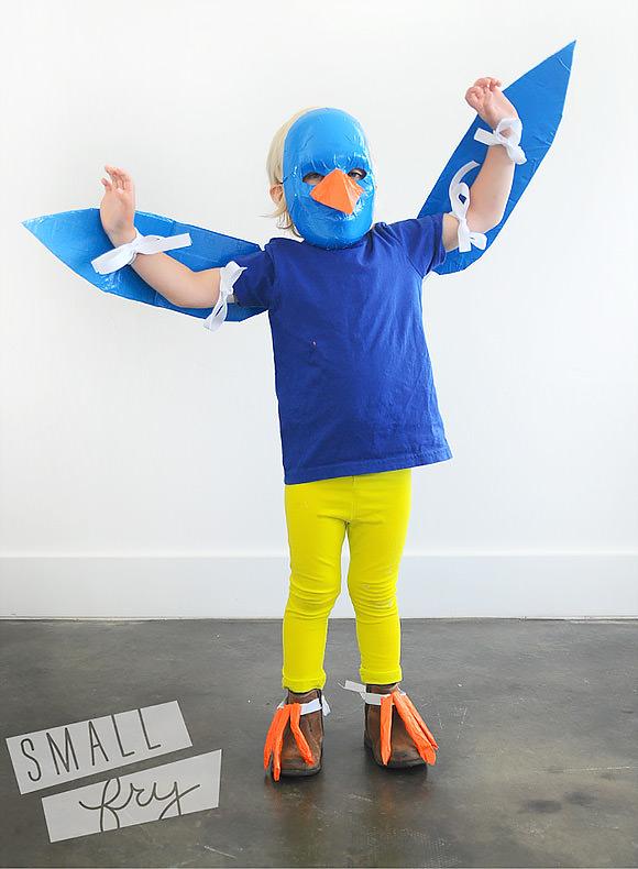 DIY Duct Tape Bird Costume for Kids