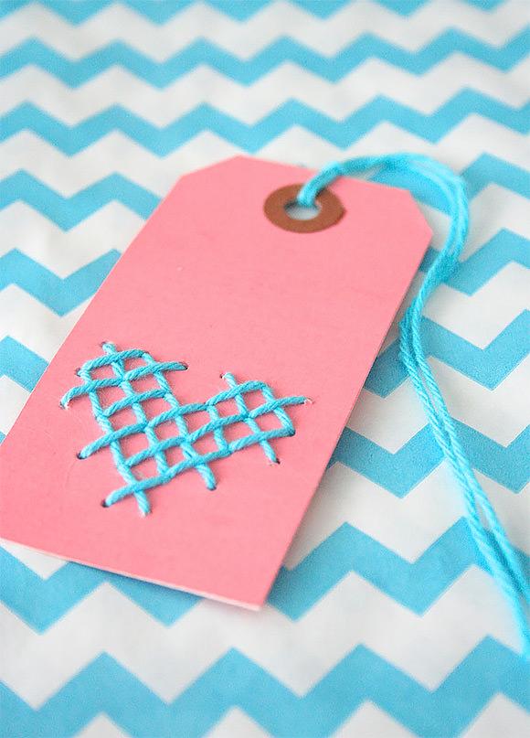 DIY Cross-Stitch Gift Tag