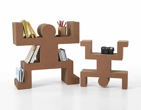 Spanky Cardboard Shelving for Kids