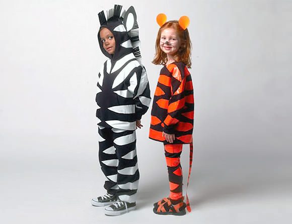 DIY Duct Tape Zebra And Tiger Costumes