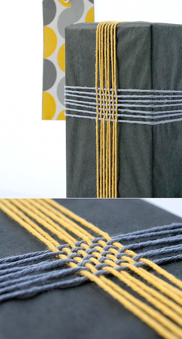 DIY Gift Wrap Ideas:Braided Twine