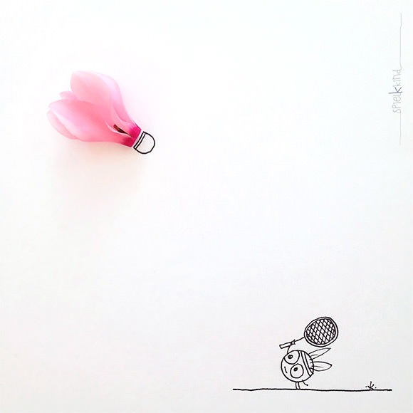 """forehand"" (instagram art by spielkkind)"
