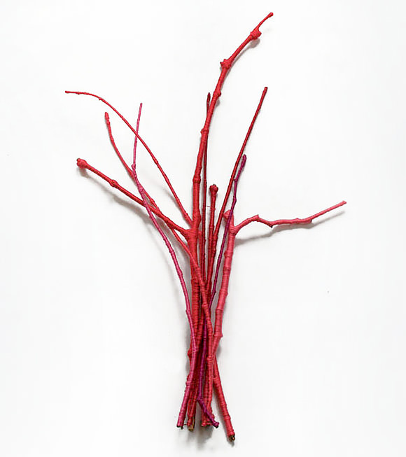 Colorful DIY Holiday Branches (using thread)