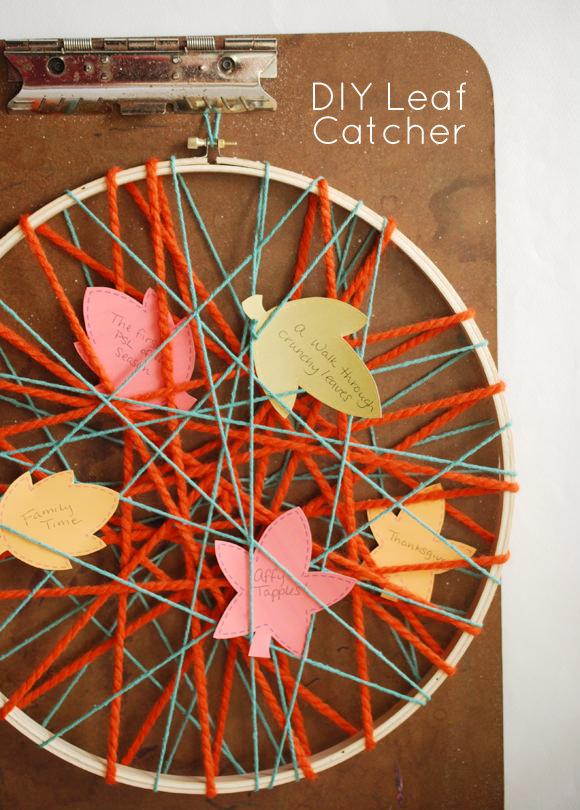DIY Leaf Catcher