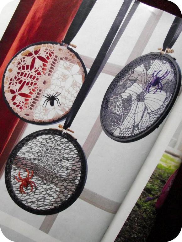 DIY Lace Spiderwebs
