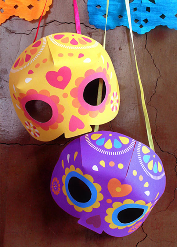 DIY Day Of The Dead Printable Mask
