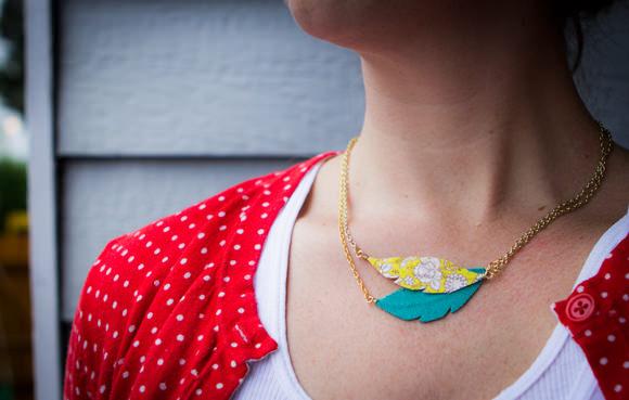 DIY Prairie Feather Necklace