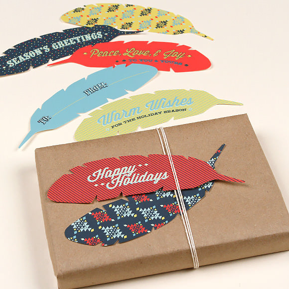 Feather Gift Tags Printable Template