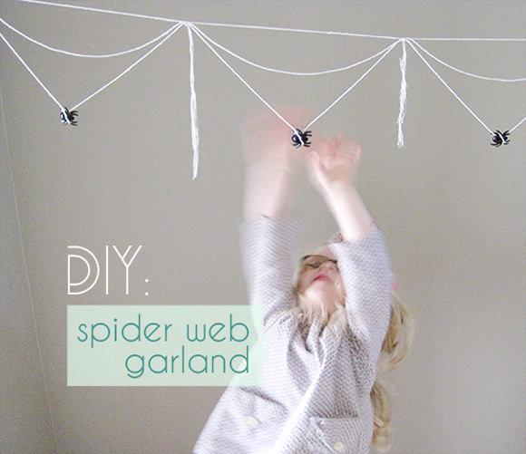 DIY Spiderweb Garland