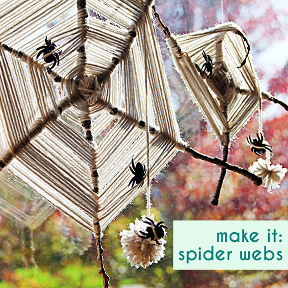 DIY Sticks and Twine Spiderweb