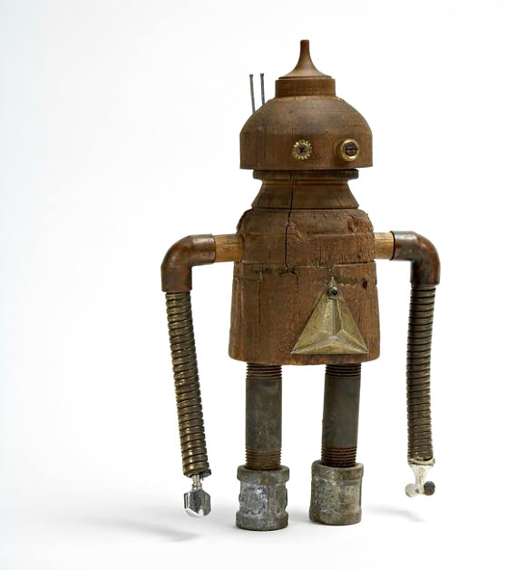 Robot Made From Found Objects by Shawn Murenbeeld