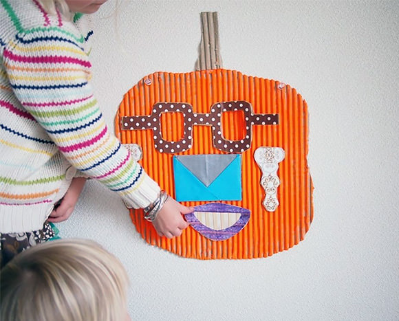 DIY Mr. Pumpkin Game (made from recycled cardboard by The Cardboard Collective)