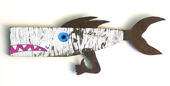 Driftwood Fish Art via Etsy