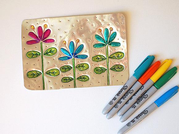 DIY Tin Wall Art