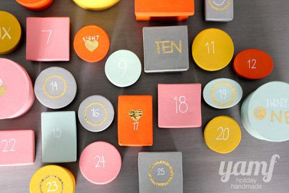 DIY Colorful Advent Calendar